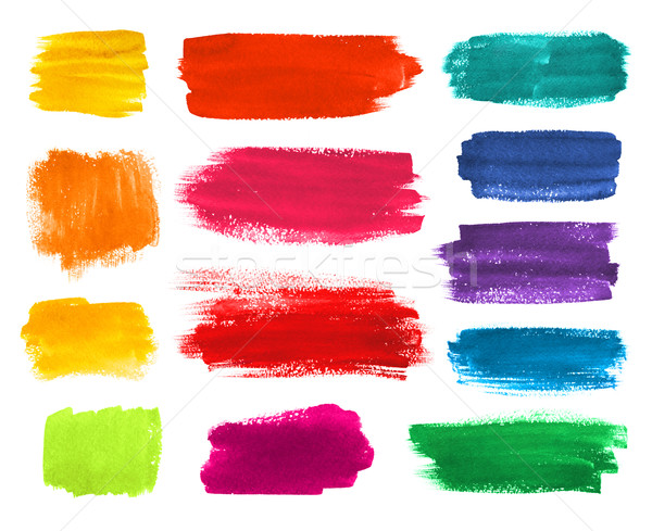 Brushstrokes banners collection. Stock photo © Sonya_illustrations