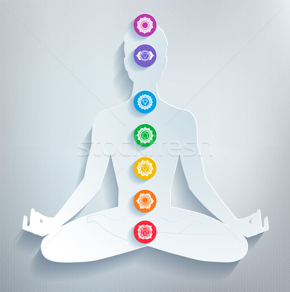 Meditation and chakras.  Stock photo © Sonya_illustrations