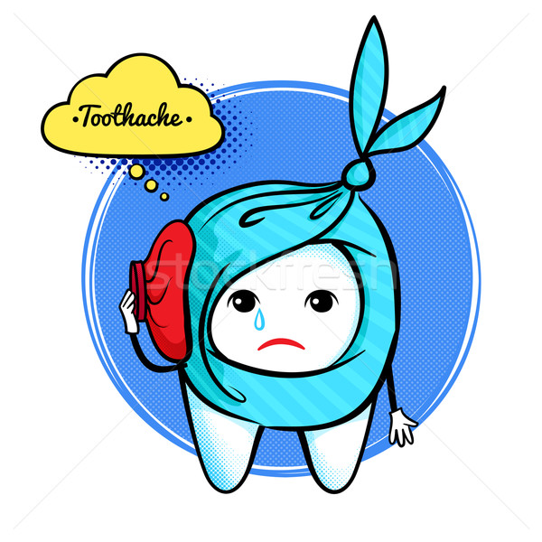 Cute aching tooth character.  Stock photo © Sonya_illustrations