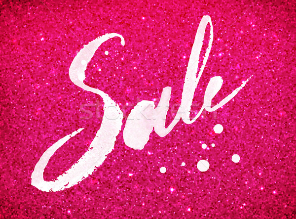 Sale word in pink and white colors Stock photo © Sonya_illustrations