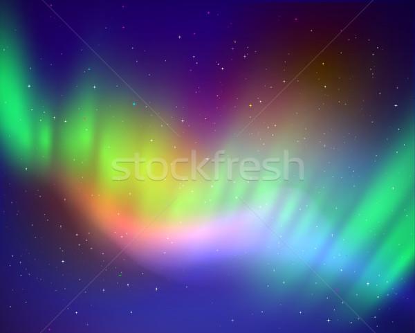 Northern lights Stock photo © Sonya_illustrations