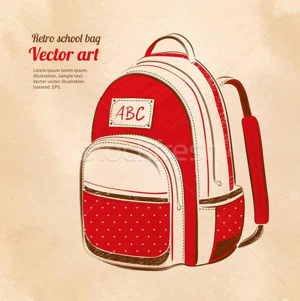 School bag Stock photo © Sonya_illustrations