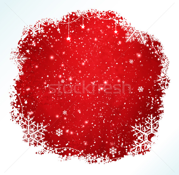 Red and white Christmas frame. Stock photo © Sonya_illustrations