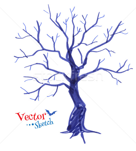 Spooky tree. Stock photo © Sonya_illustrations