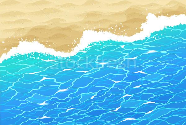 морем поиск песчаный пляж вектора воды ряби Сток-фото © Sonya_illustrations
