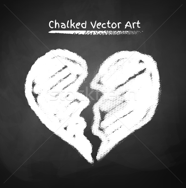 Chalked broken heart. Stock photo © Sonya_illustrations