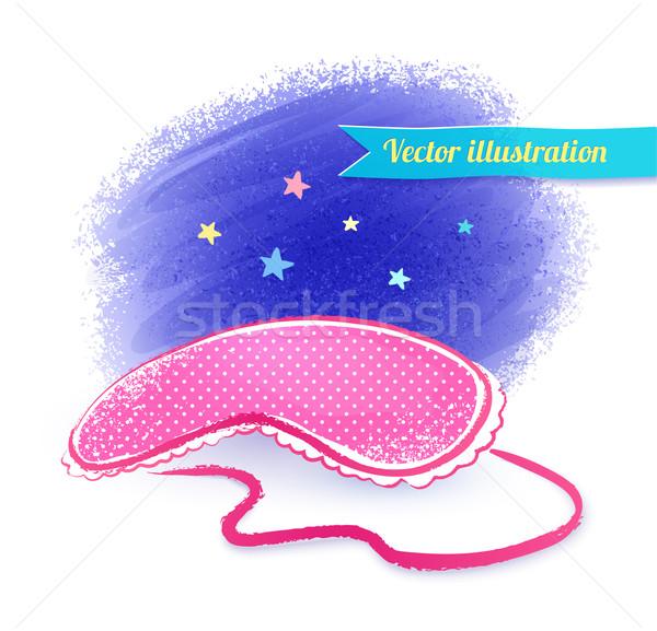 眼 マスク 手描き スケッチ 星 レトロな ストックフォト © Sonya_illustrations