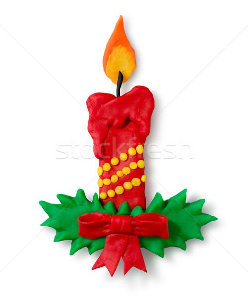Plasticine figure of Christmas candle Stock photo © Sonya_illustrations