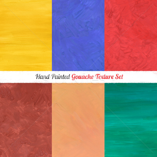 Foto stock: Textura · fondos · mano · pintado · establecer · color