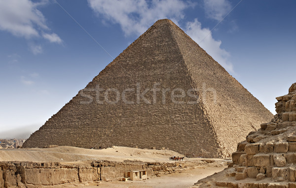 Pyramids od Egypt Stock photo © sophie_mcaulay