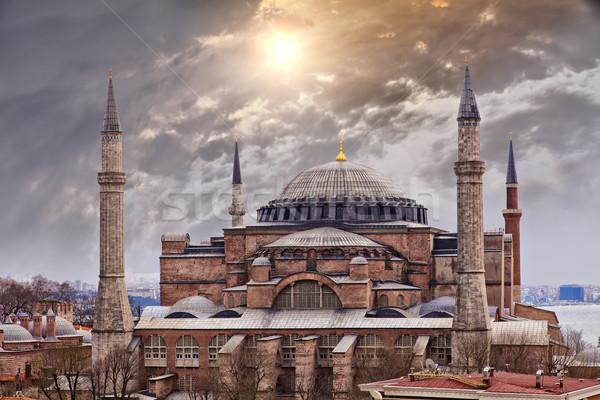 Isztambul kép fenséges Törökország épület naplemente Stock fotó © sophie_mcaulay