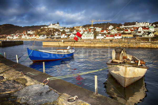 Small traditional fishing village in sweden Stock photo © sophie_mcaulay
