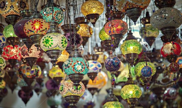 Turkish mosaic lamps Stock photo © sophie_mcaulay