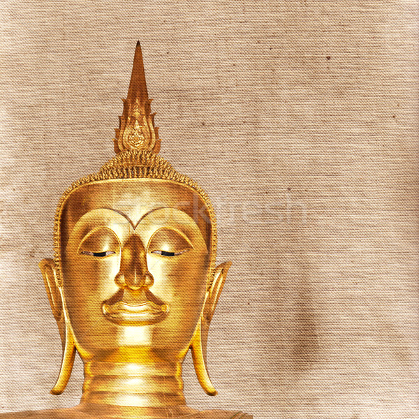 Gold painted Buddha statue Stock photo © sophie_mcaulay
