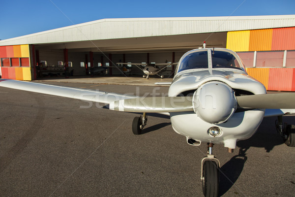 Small planes in private airport Stock photo © sophie_mcaulay