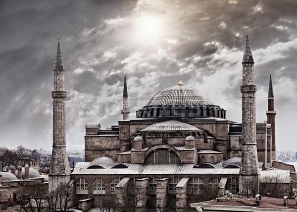 Isztambul kép fenséges Törökország épület templom Stock fotó © sophie_mcaulay