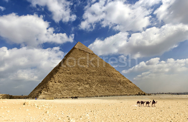 Great pyramid of Egypt Stock photo © sophie_mcaulay