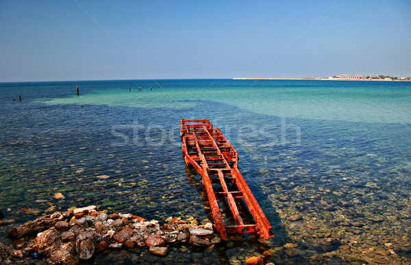 Stretch of beach in Chernomoskoe, Ukraine Stock photo © sophie_mcaulay