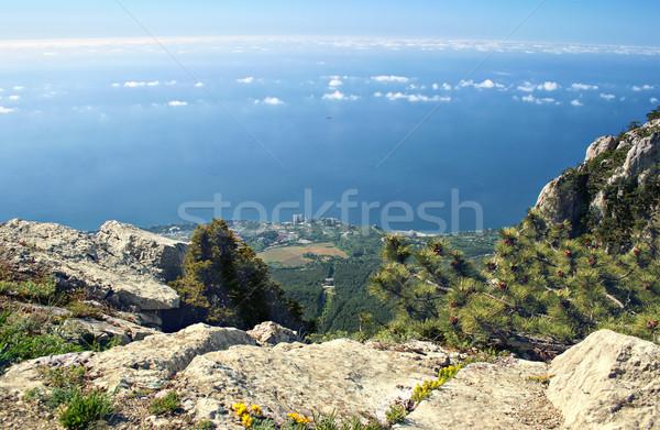 Aerial view of Yalta, Ukraine Stock photo © sophie_mcaulay
