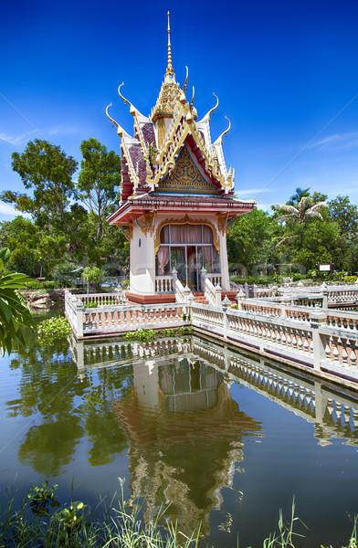 Hua Hin temple pond Stock photo © sophie_mcaulay