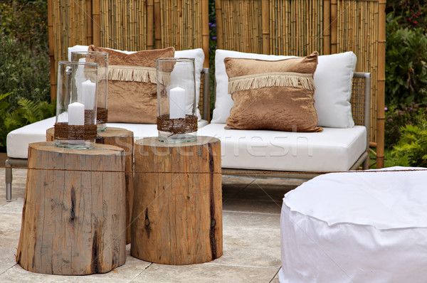 Garden seating area Stock photo © sophie_mcaulay