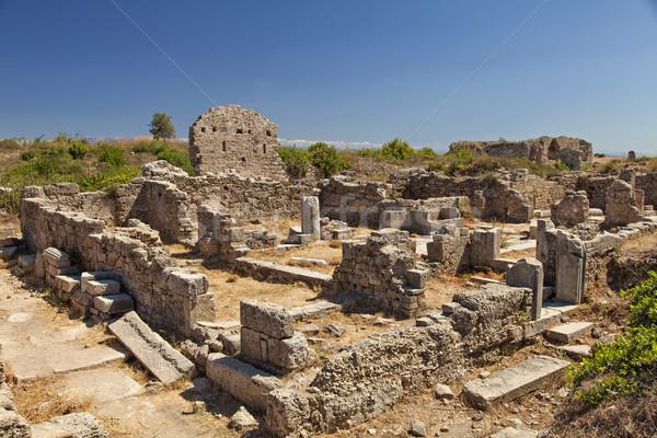 Ancient village ruins in Side Turkey Stock photo © sophie_mcaulay