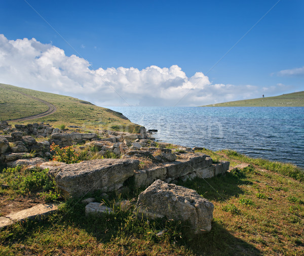 Ancient archaeological site on the coast of Crimea, Ukraine. Stock photo © sophie_mcaulay