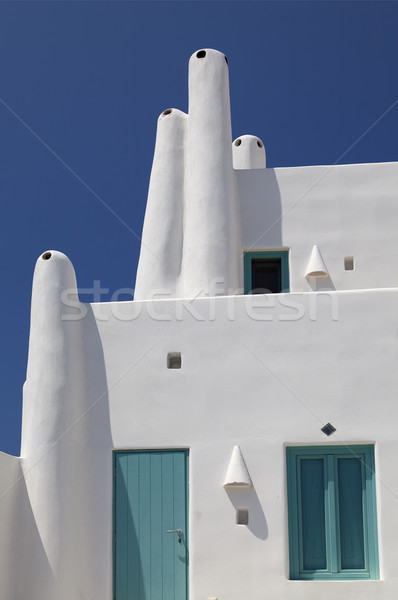 Traditional santorini house Stock photo © sophie_mcaulay