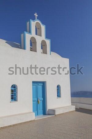 White church on Santorini Stock photo © sophie_mcaulay