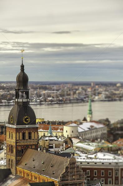 Riga stad Letland winter reizen Stockfoto © sophie_mcaulay