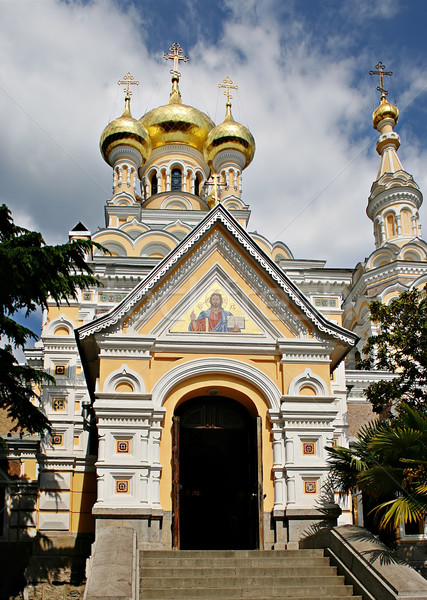 Orthodoxe cathédrale image architecture blanche histoire Photo stock © sophie_mcaulay