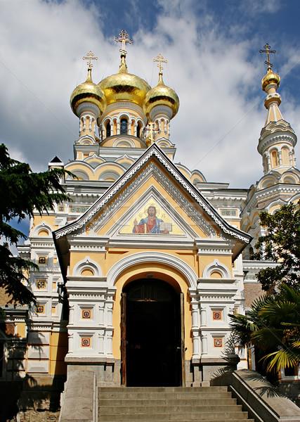 Ortodoxo catedral imagen arquitectura blanco historia Foto stock © sophie_mcaulay