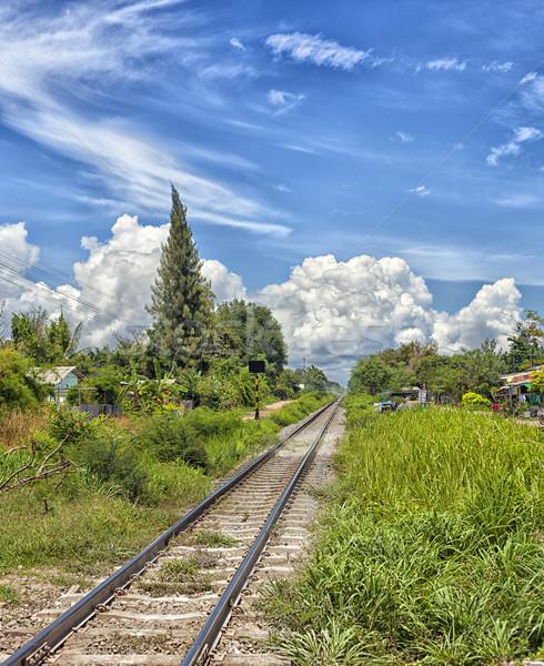 Railroad track Stock photo © sophie_mcaulay