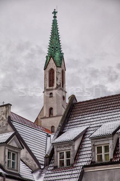 Kilise Riga Letonya görmek şehir Stok fotoğraf © sophie_mcaulay