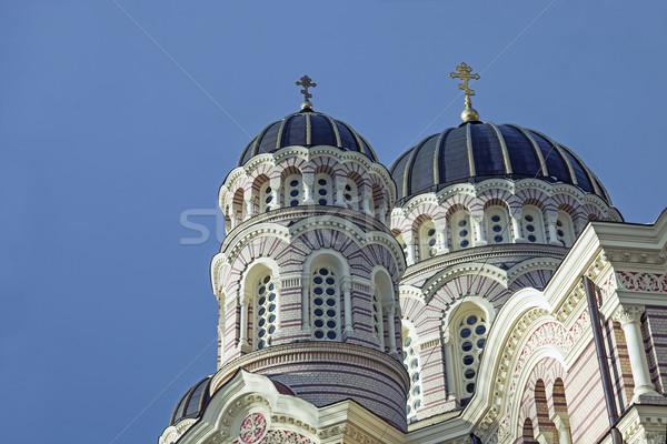Riga ortodoks katedral görüntü güzel Letonya Stok fotoğraf © sophie_mcaulay