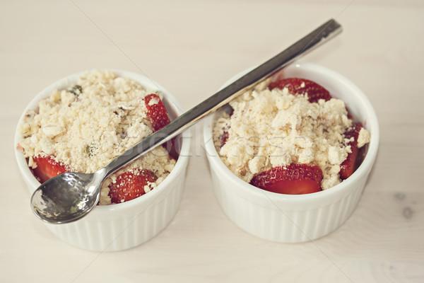 Strawberry crumble dessert Stock photo © sophie_mcaulay