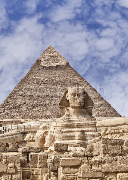 The Sphinx and pyramids of Giza Stock photo © sophie_mcaulay