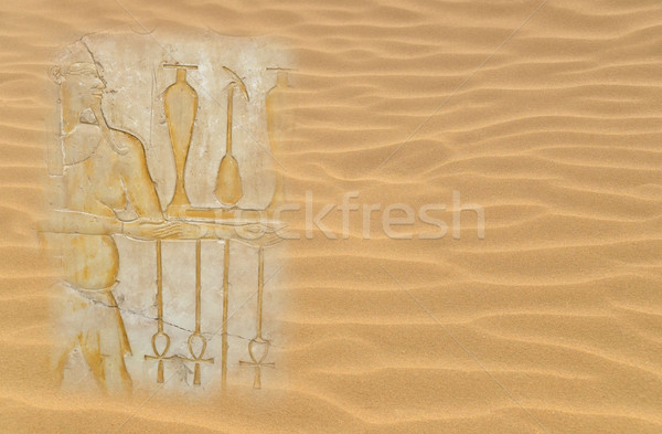 Egyptian hieroglyphs  Stock photo © sophie_mcaulay