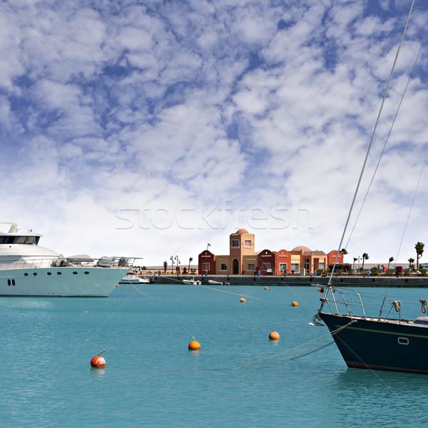 New Hurghada marina Stock photo © sophie_mcaulay
