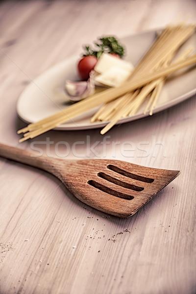 Stock photo: Kitchen still life with pasta
