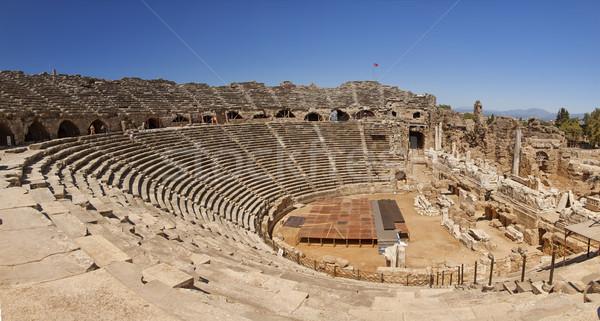 Amphitheatre in Side Turkey Stock photo © sophie_mcaulay