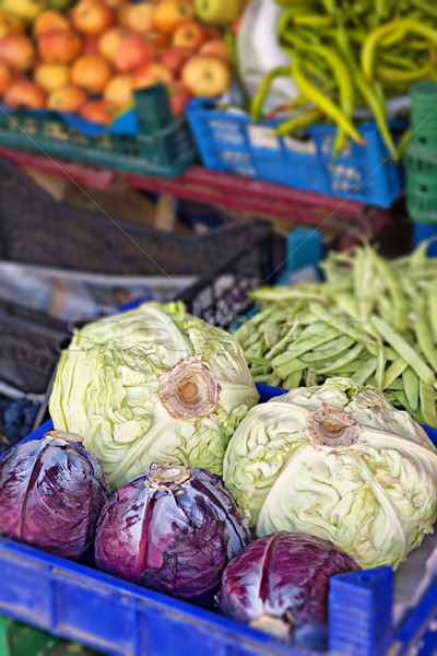 Colourful vegetable market Stock photo © sophie_mcaulay
