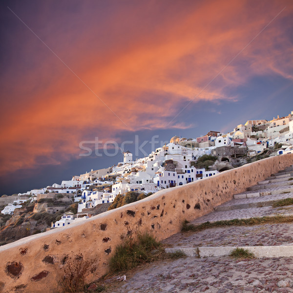 sunset in Oia Santorini Stock photo © sophie_mcaulay