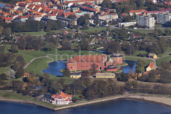 Landskrona citadel photographed from the air Stock photo © sophie_mcaulay