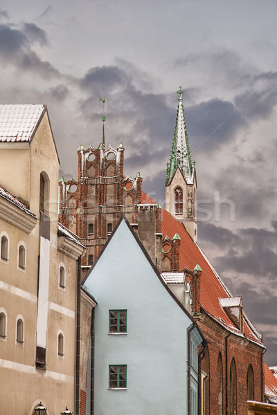 Architecture in Riga Latvia Stock photo © sophie_mcaulay