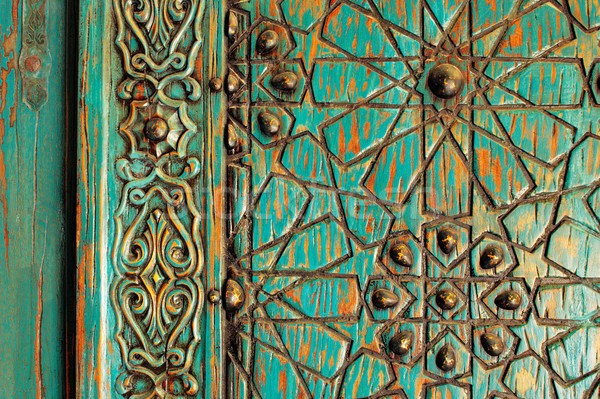 A detail of an ancient ottoman door Stock photo © SophieJames