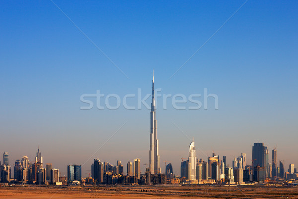 Skyline of Dubai is graced with beautiful towers Stock photo © SophieJames