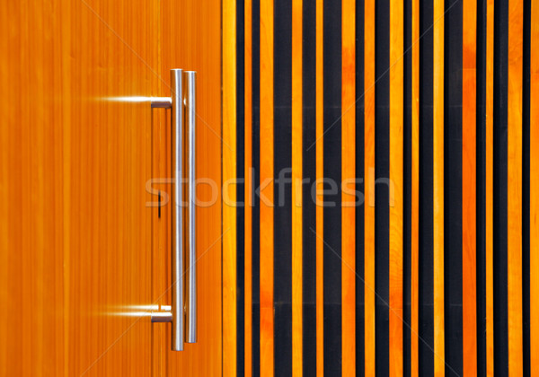 Detailed image of the stainless steel door handles Stock photo © SophieJames