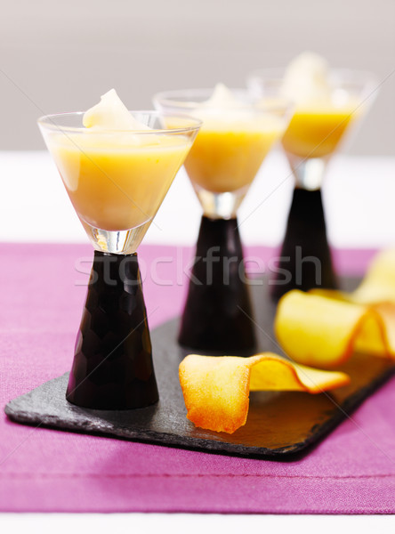 Creme caramel is a beautiful French desert Stock photo © SophieJames