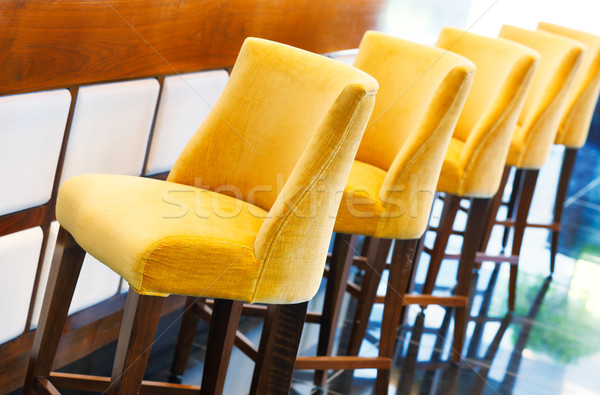 The warm yellow bar stools Stock photo © SophieJames